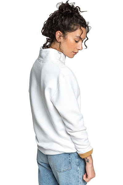 Джемпер женский QUIKSILVER Boxyhalfzipf W White--28