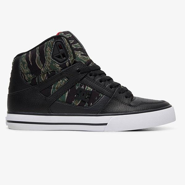 Купить кроссовки высокие DC Shoes Pure Ht M Black/Camo Print (ADYS400050-0CP) в интернет-магазине Proskater.ru
