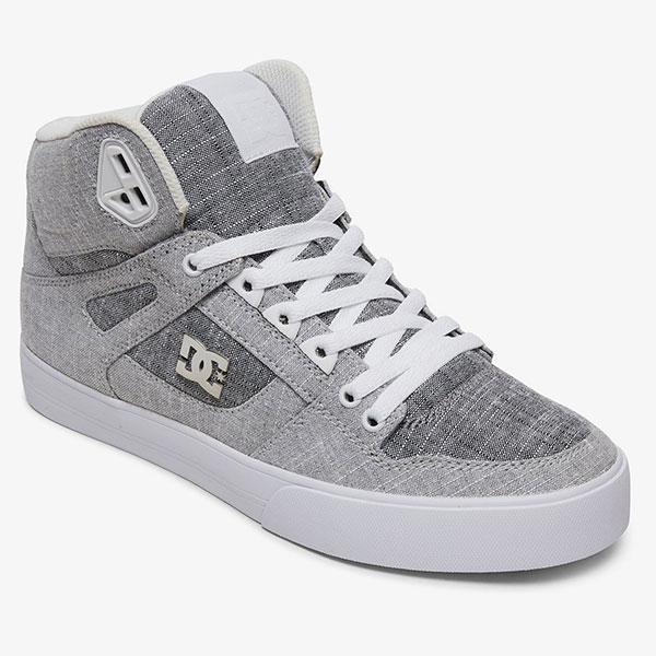 Кроссовки высокие DC Shoes Pure Ht Wc M Grey/Grey/White