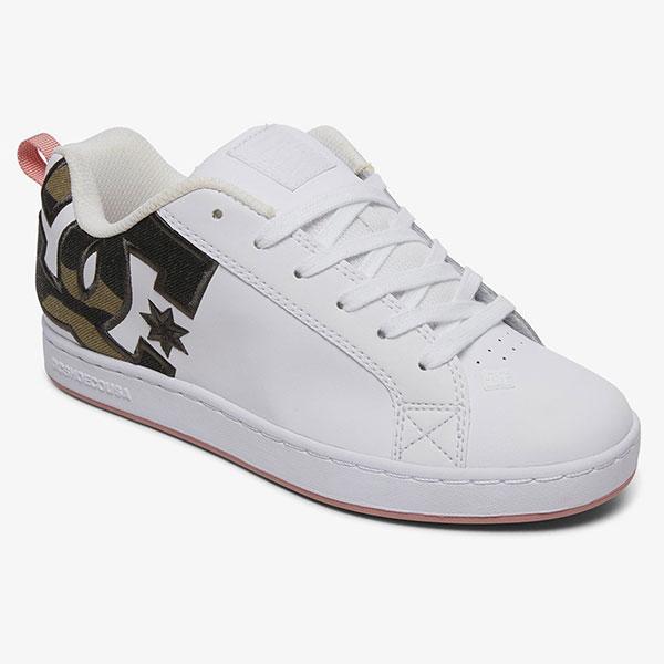 Кеды женские DC Shoes Court Graffik White/Camo