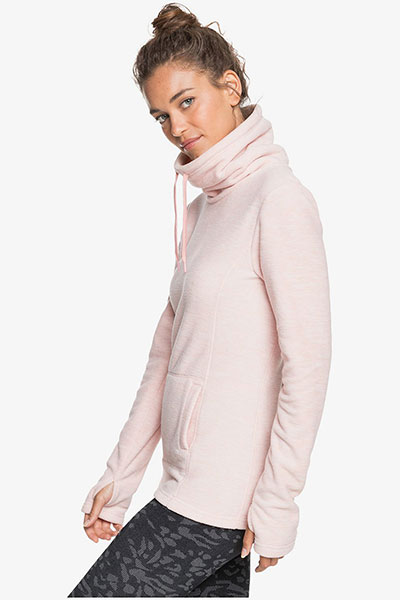 Толстовка женская Roxy Sno Flak Silver Pink