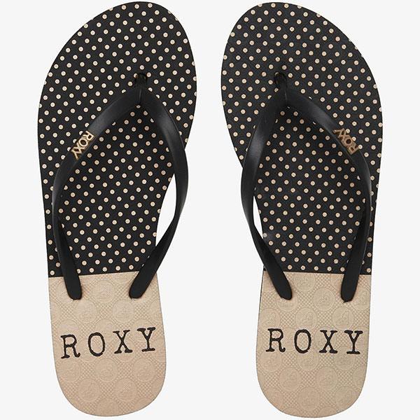 Вьетнамки женские Roxy Viva Stamp Black/Black/Black