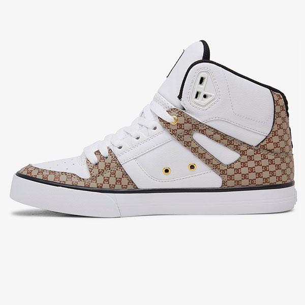 Кеды высокие DC Shoes Pure Ht Wc Black/White/Brown