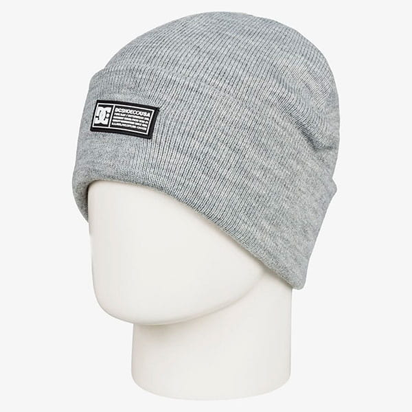 Шапка DC Shoes Label Beanie Frost Gray