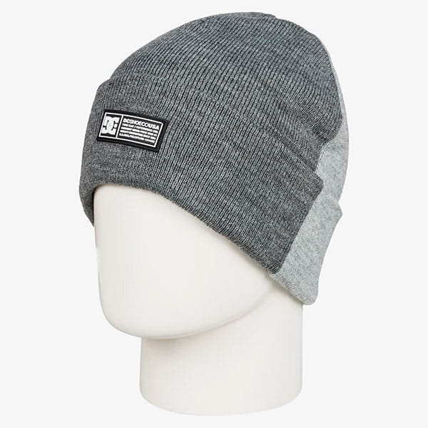 Шапка DC Shoes Labelspltbeanie Frost Gray