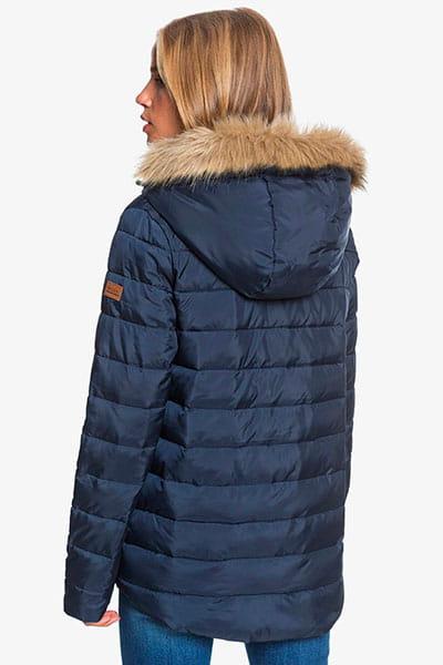 Куртка женская Roxy Rock Peak Fur Mood Indigo