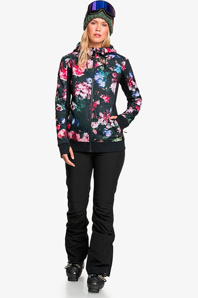 Куртка женская Roxy Frost Printed True Black Blooming
