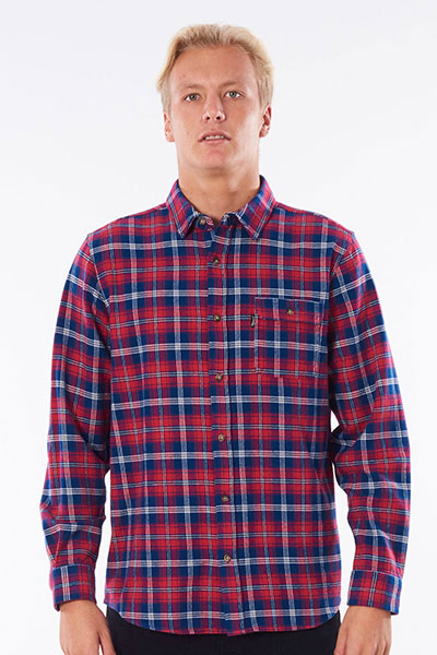 Рубашка Rip Curl Check Shirt 9199 Red Washed