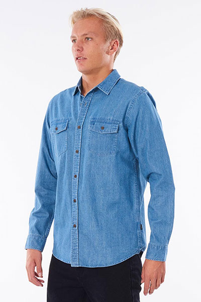 Рубашка Rip Curl Searchers Denim Shirt Dusty