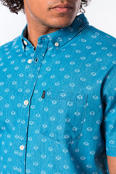 Рубашка Rip Curl Rhombees S/S Shirt Blue