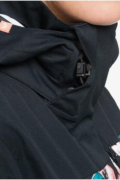 Куртка сноубордическая женская Roxy Jetty Block True Black Tropical