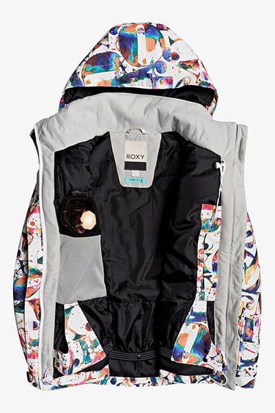 Куртка сноубордическая женская Roxy Jetty Jk Snjt Bright White Magic