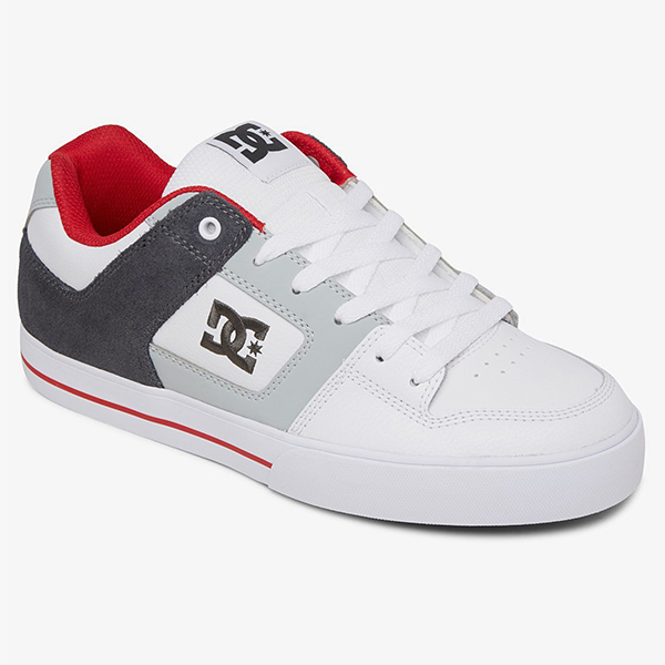Кеды DC Shoes Pure M Shoe White/Grey/Red