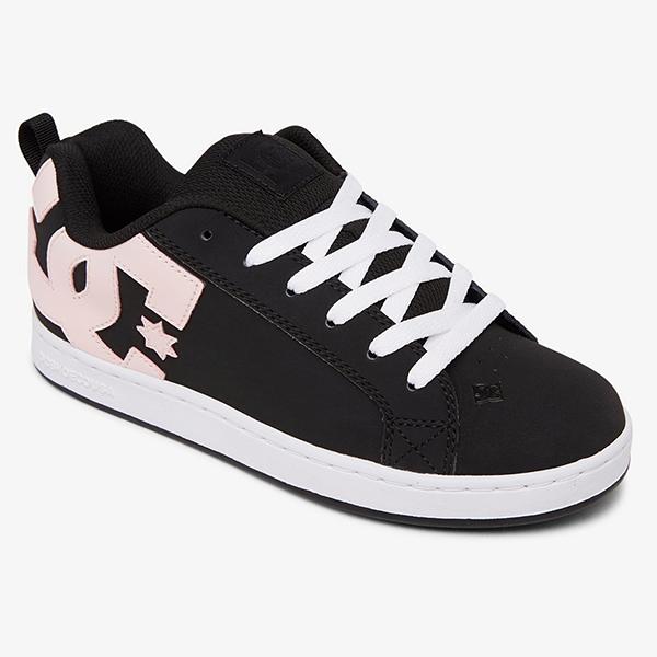 Кеды женские DC Shoes Court Graffik Black/Super Pink
