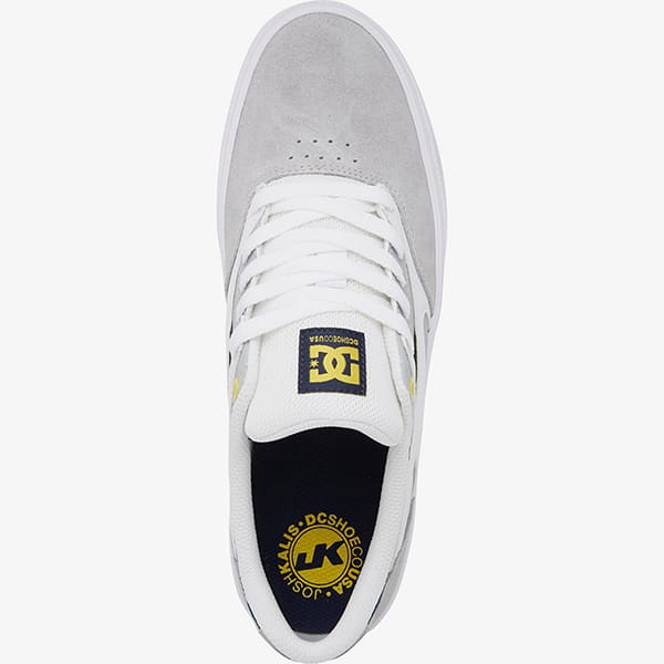 Кеды DC Shoes Kalis Vulc White/Grey/Grey