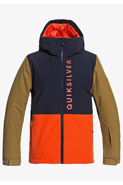 Куртка сноубордическая детский QUIKSILVER Side Hit Pureed Pumpkin