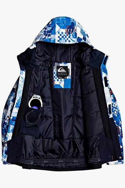 Куртка Сноубордическая QUIKSILVER Mission Blk Yth B Snjt Bnl5 Brilliant Blue Check