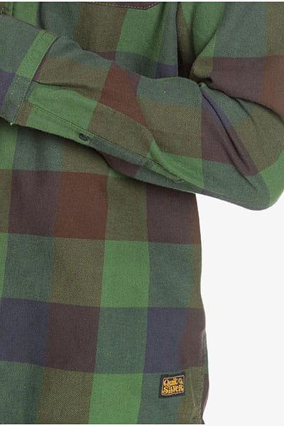 Рубашка QUIKSILVER Motherfly Greener Pasture Moth