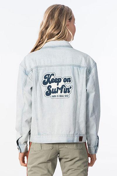 Куртка джинсовая женская Rip Curl Keep On Surfin Bleach