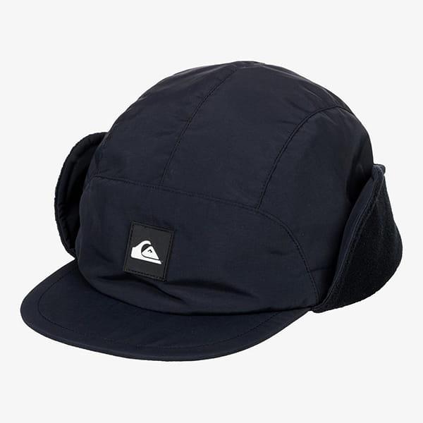 Бейсболка пятипанелька QUIKSILVER Fleece Cap True Black