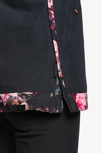 Куртка сноубордическая женский Roxy Shelter True Black Blooming