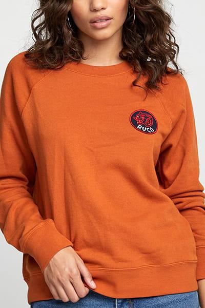 Джемпер женский Rvca Dynasty Pullover Dark Orange