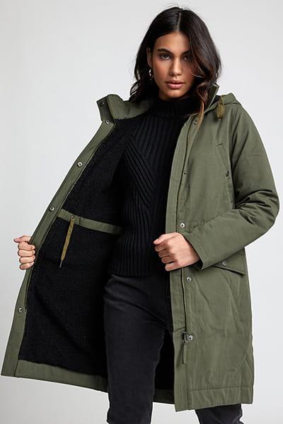 Куртка женская Rvca Runyon Parka Army Drab
