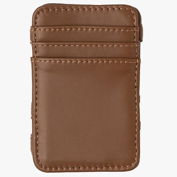 Кошелек Rvca Leather Magic Wallet Tan