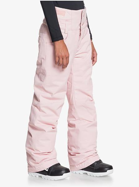 Штаны сноубордические детские Roxy Diversion Powder Pink