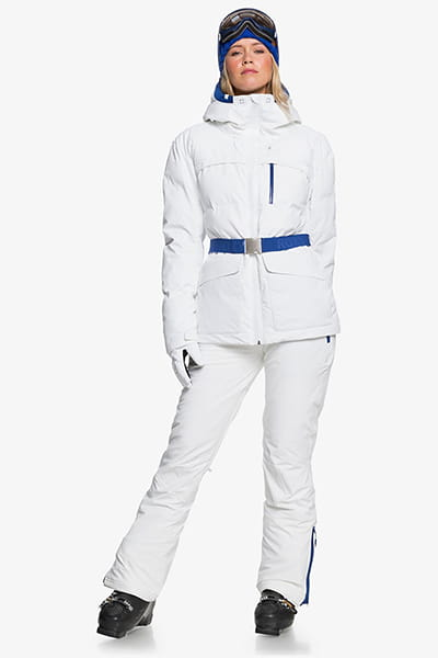 Куртка сноубордическая женский Roxy Premiere Bright White