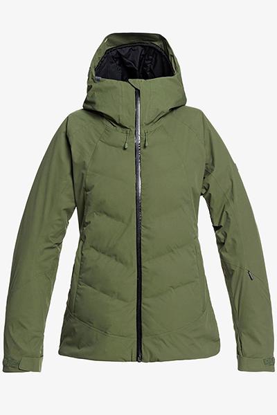 Куртка сноубордическая женский Roxy Dusk Bronze Green