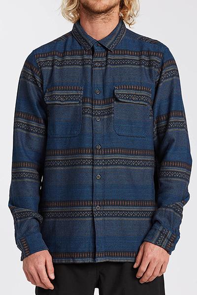 Рубашка Billabong Desert Seas Jacquard Denim Blue