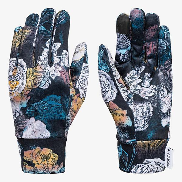 Перчатки сноубордические женские Roxy Liner Gloves True Black Sammy