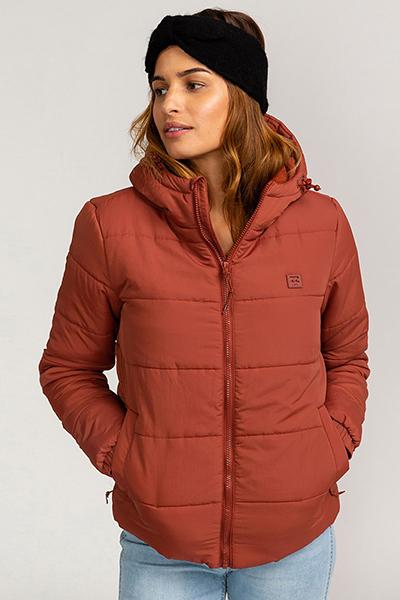 Куртка женская Billabong Transport Puffer Chestnut