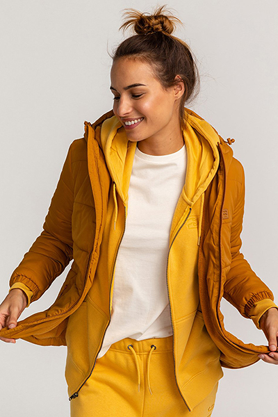 Куртка женская Billabong Transport Puffer Inca Gold