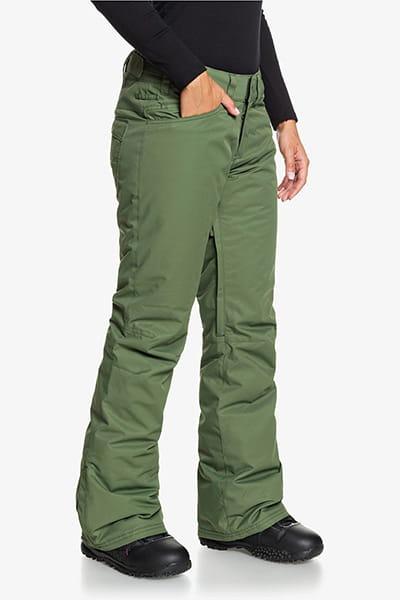 Штаны сноубордические женские Roxy Backyard Bronze Green