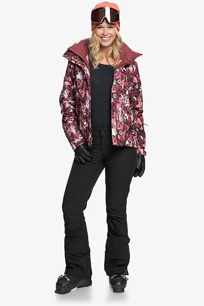 Куртка сноубордическая женский Roxy Jet Ski Jk Oxblood Red Leopold