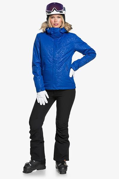 Куртка сноубордическая женский Roxy Jet Ski Solid Mazarine Blue Zebra