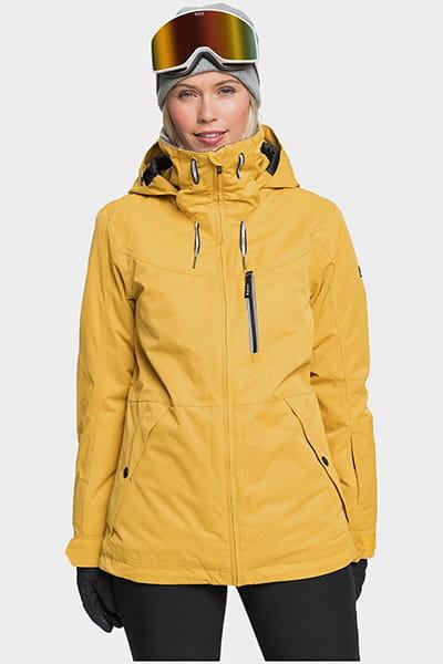 Куртка сноубордическая женский Roxy Presence Jk Golden Rod