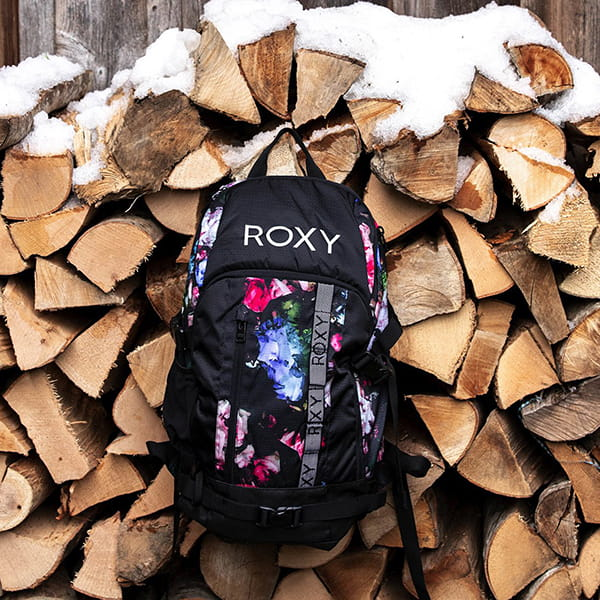 Рюкзак женский Roxy Tribute Bkpk True Black Blooming