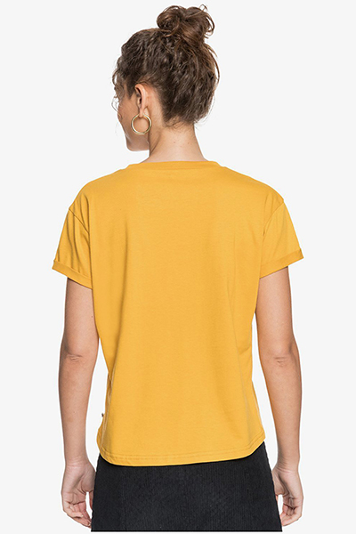 Футболка женская Roxy Epic Af Word Mineral Yellow