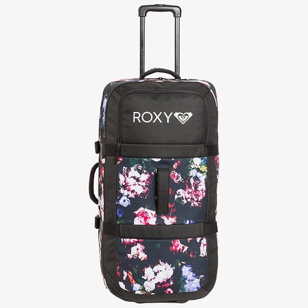 Сумка дорожная Roxy Long Haul Bag Black Blooming