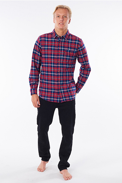 Рубашка в клетку Rip Curl Check Washed Red