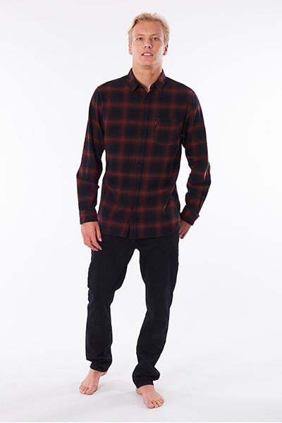 Рубашка Rip Curl Check This Maroon