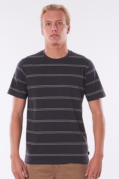 Футболка Rip Curl Plain Stripe Tee Washed Black