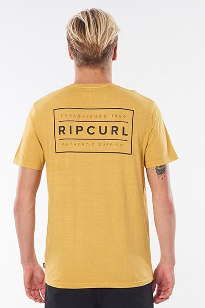 Футболка Rip Curl Driven Box Tee Mustard