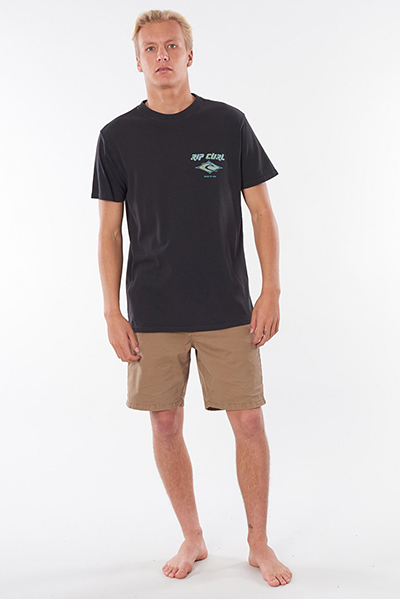 Футболка Rip Curl Fadeout Tee Washed Black-23