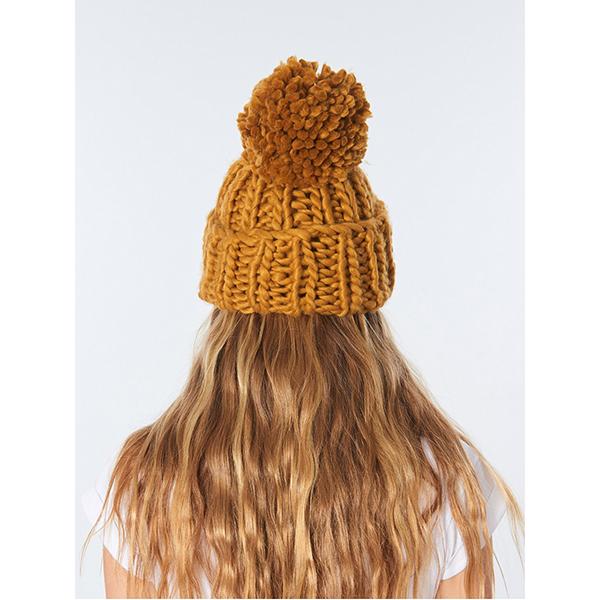 Шапка женская Rip Curl Tropic Pom-pom Beanie Tobacco Brown