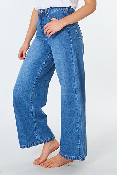Джинсы женские Rip Curl Rincon Wide Leg Blue