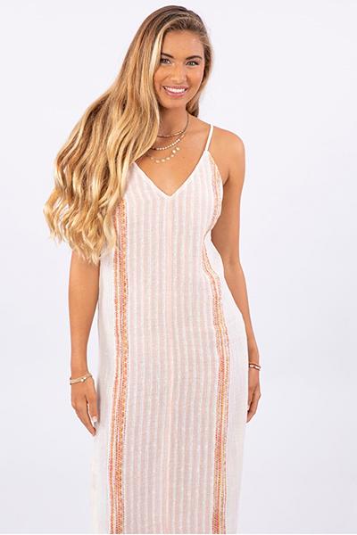 Платье женское Rip Curl Baja Stripe Midi Bone